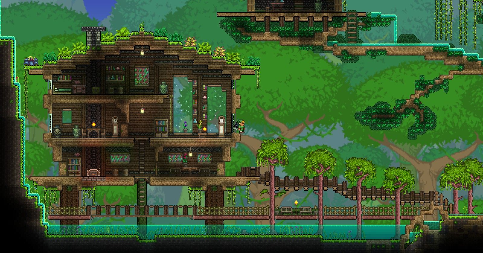 Click this image to show the full size version terraria for Best house designs terraria