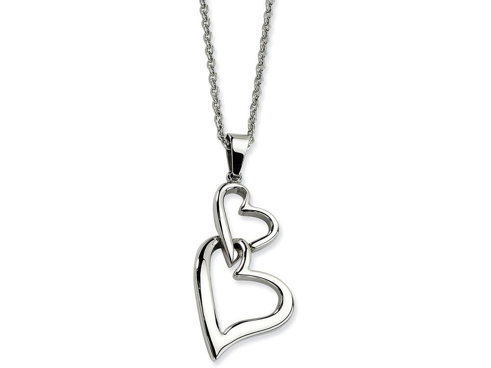 Chisel Stainless Steel Heart Pendant Necklace