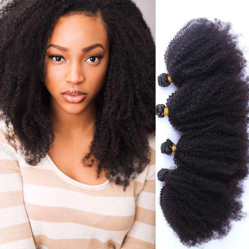 Aliexpress Buy Mongolian Kinky Curly Virgin Hair 4 Pcs Afro