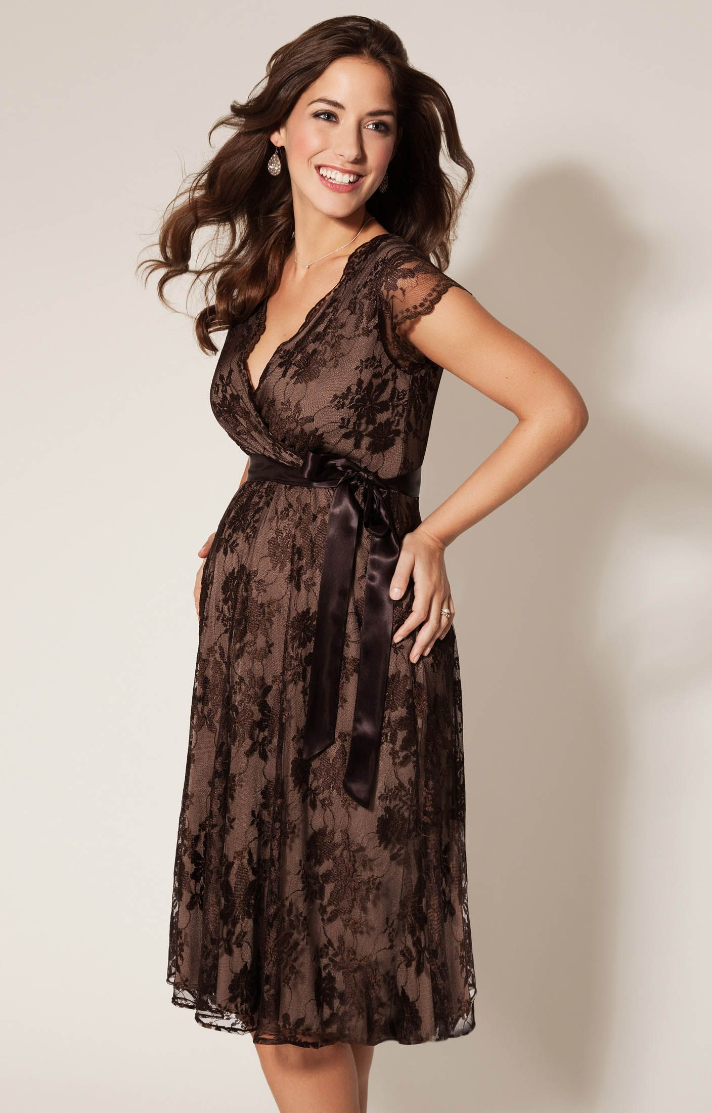 Photo of Eden Maternity Gown Short Chocolate – Maternity Wedding Dresses,