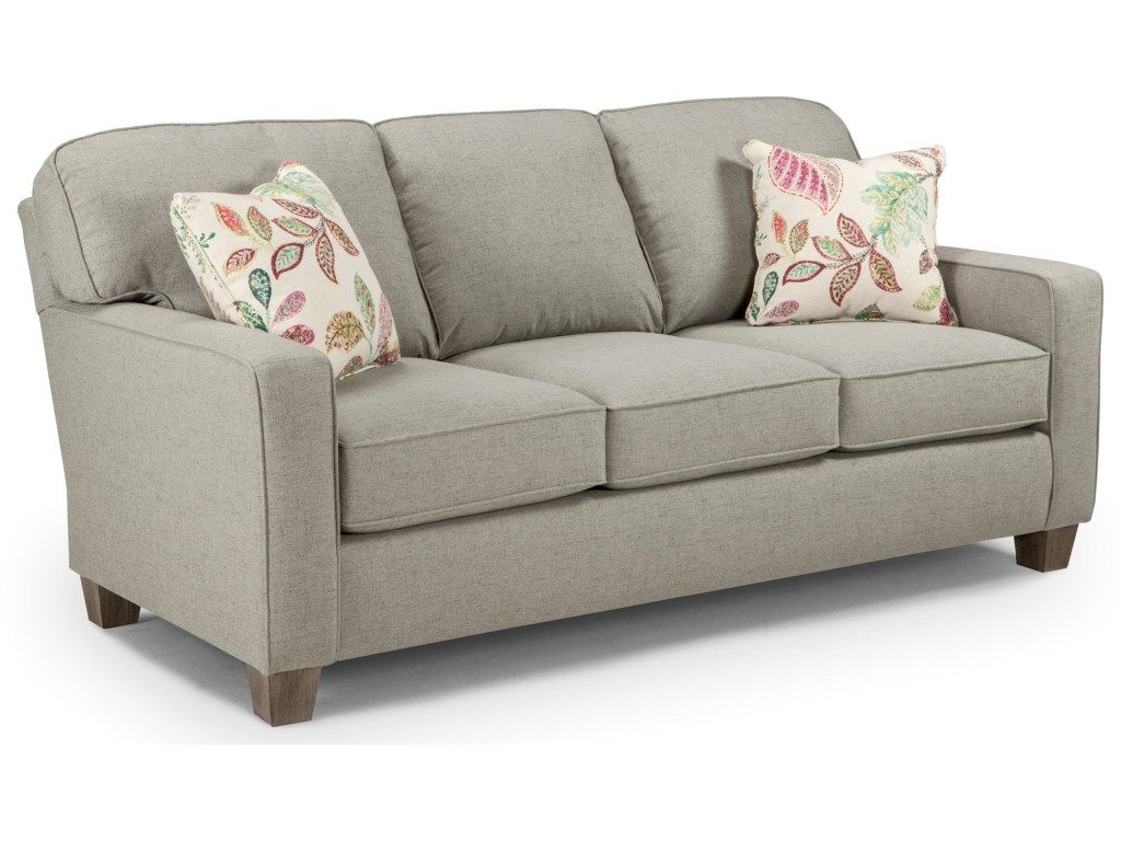 Annabel customizable contemporary sofa with track arms and