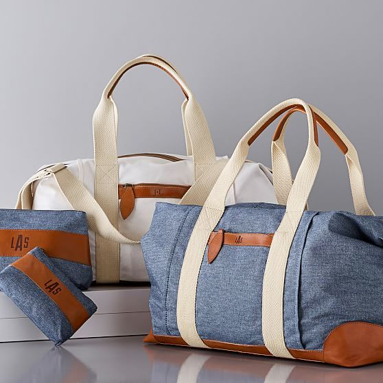Canvas and Leather Weekender Bag  b1b9dca7d80d3