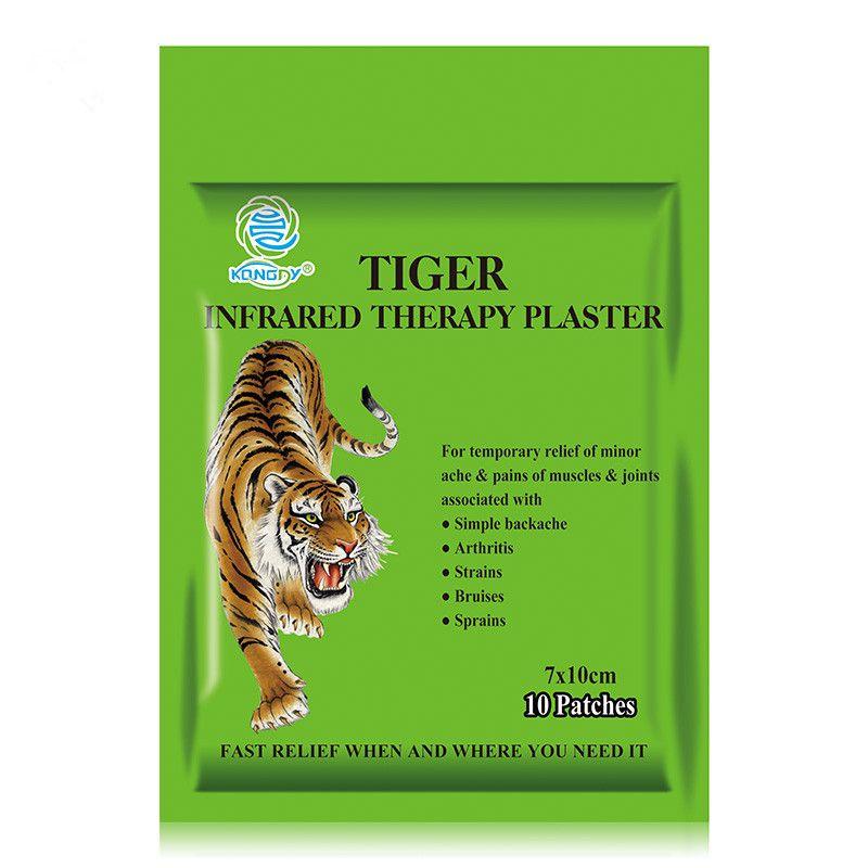 Gesundheitswesen KONGDY Tiger Capsicum Gips 10 Teile/beutel 7*10 CM Medizinischen Schmerzlinderung Patches für Back/Hals/arthritischen Schmerzen und Schmerzen