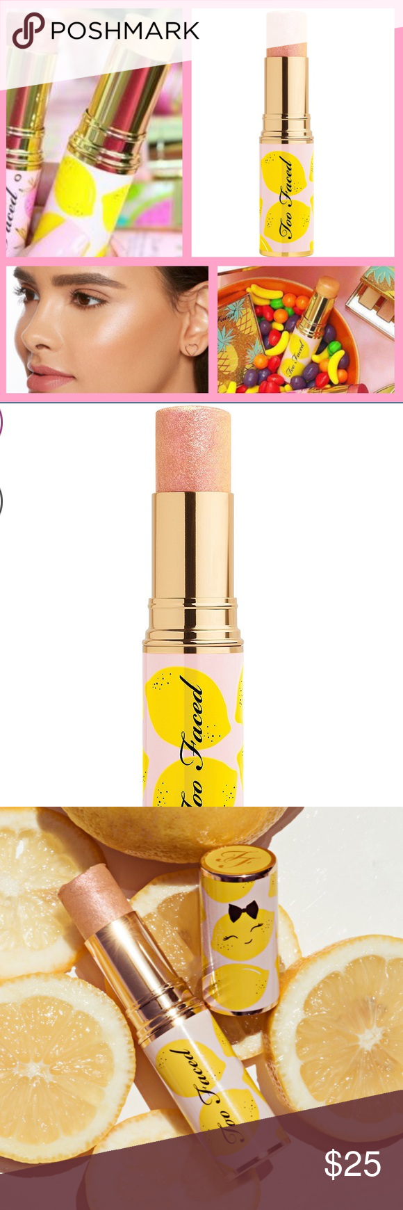 Too Faced 🍋 PINK LEMONADE HIGHLIGHTER STICK NWT Pink