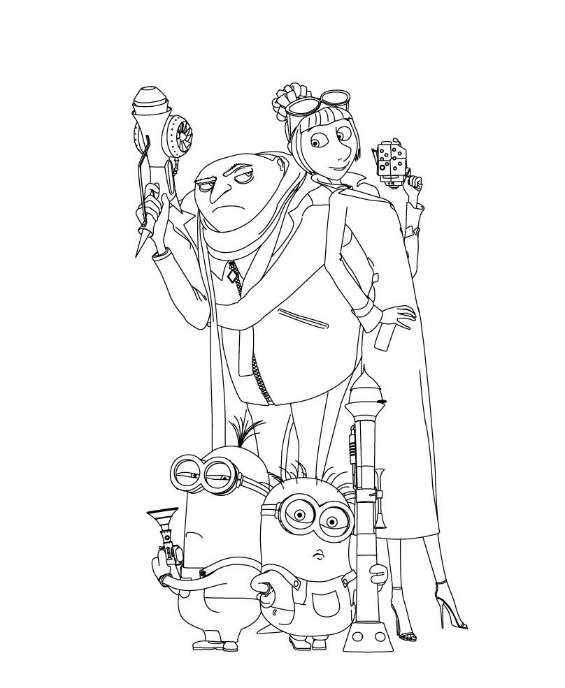 Despicable Me 2 Ready Activity Coloring Page Minion Coloring Pages Minions Coloring Pages Coloring Pages