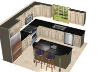 12 X 14 Kitchen Design With Island Layout Only Addition Kitchen