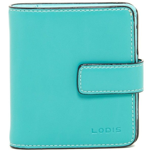 Lodis Audrey Petite Leather Card Case Wallet ($25) ❤ liked on Polyvore featuring bags, wallets, jade, leather credit card holder wallet, snap wallet, leather pocket wallet, snap closure wallet and card case wallet