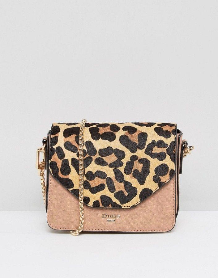 Dune Interchangeable Leopard Print Blush Crossbody Bag