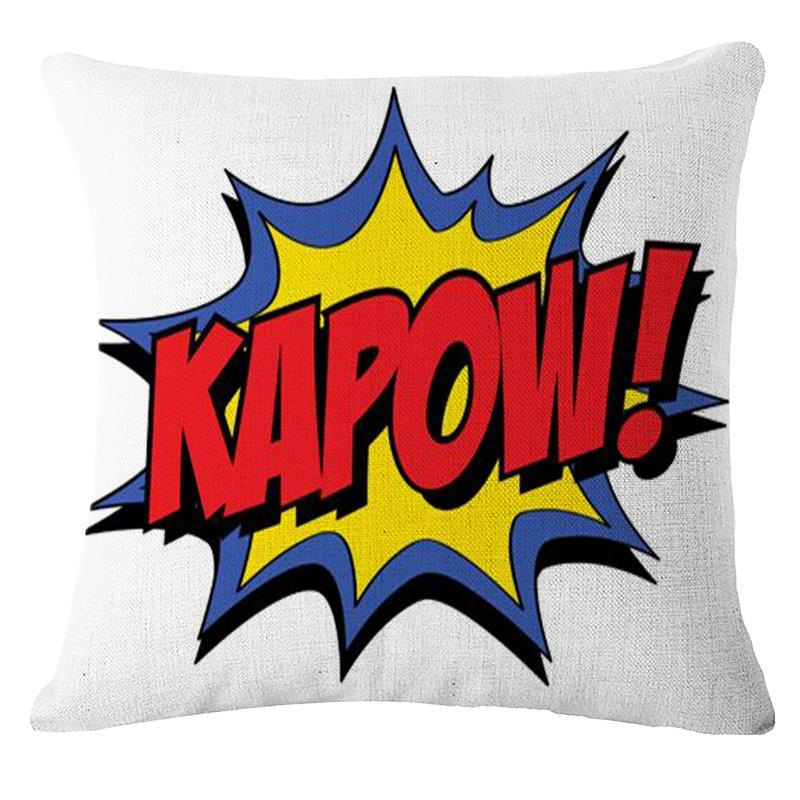 Pop Amp Pow Quotes Animation Comic Throw Pillows Products