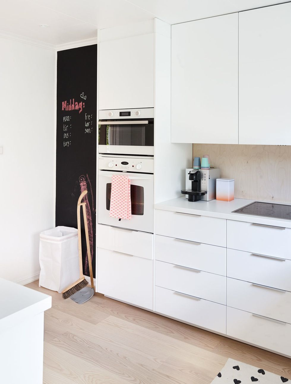 Farba Tablicowa W Aranżacji Białej Kuchni Kuchnia Dom
