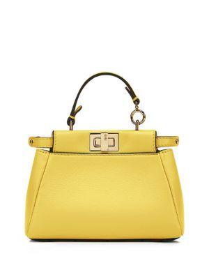 26e022ae58a2 FENDI Peekaboo Micro Leather Satchel.  fendi  bags  shoulder bags  hand bags …