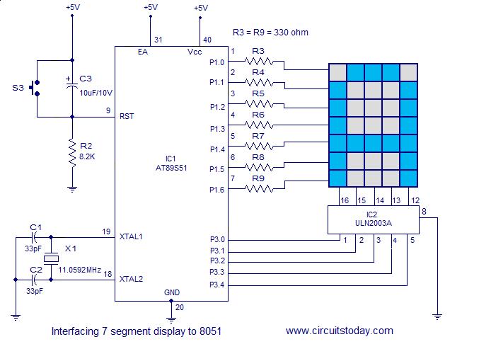 Interfacing Dot Matrix Led Display To 8051 Microcontroller Interfacing Microcontrollers Dots