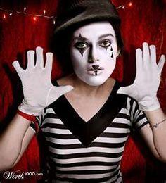 happy mime makeup - Hledat Googlem | mime | Pinterest | Mime ...