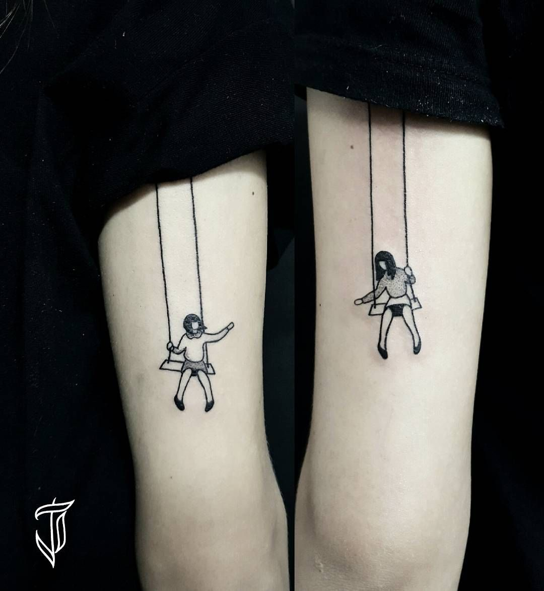 Swing Tattoo: 70 Latest Sister Tattoo Ideas For Crazy Siblings!