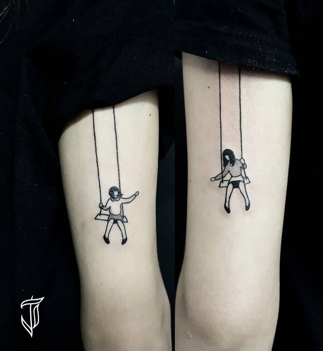 the swing sister tattoo art sister tattoos pinterest. Black Bedroom Furniture Sets. Home Design Ideas