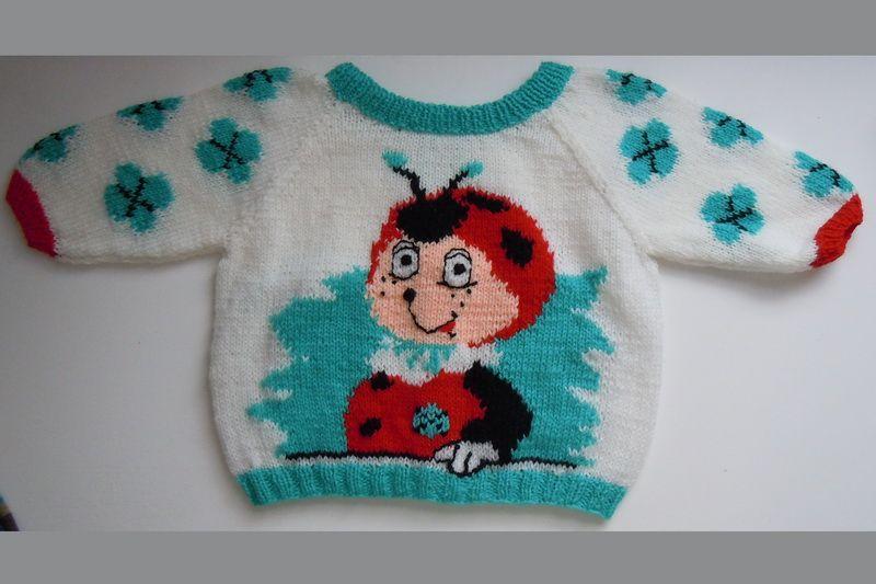 Gestrickter Pullover mit Marienkäfer | PUL ILINCA | Kinder