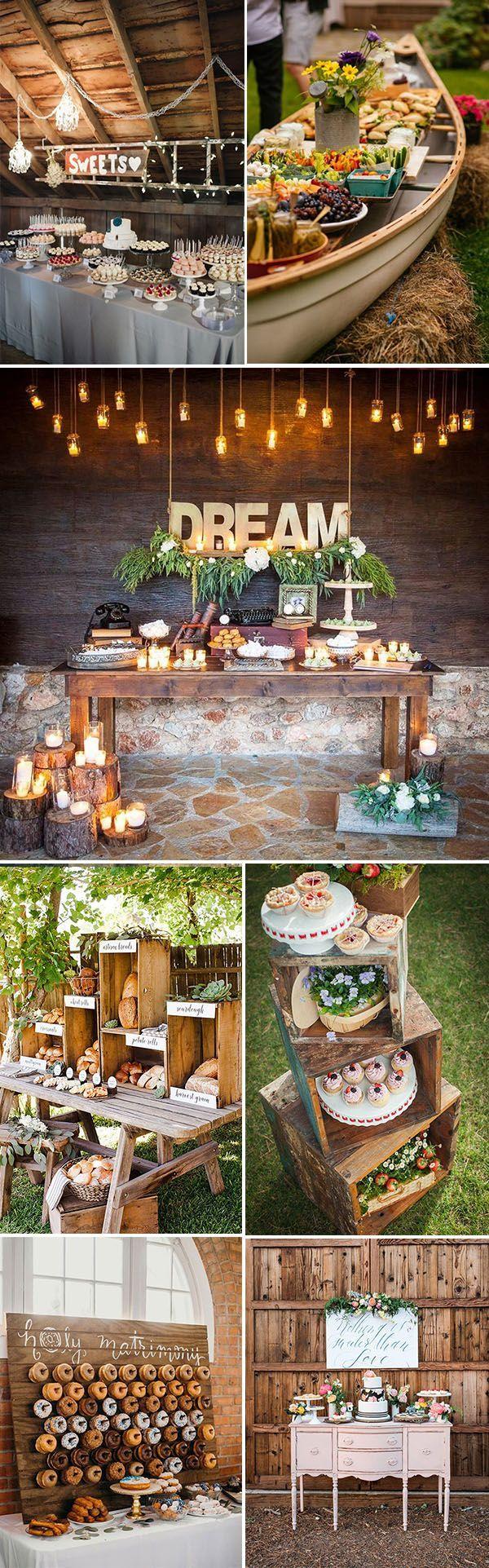 26 Inspiring Chic Wedding Food & Dessert Table Display ...