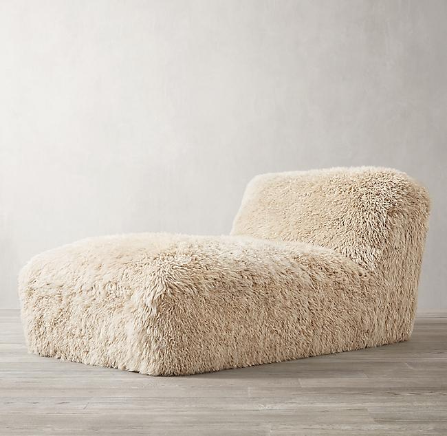 Yeti Sheepskin Armless Chaise Chaise Chaise Chair