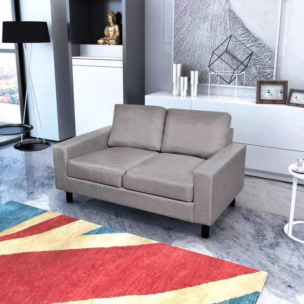 Living Room 2seater Sofa Lounger Light Gray Wooden Frame Recliner Dining Room Couch With Size 59 X Sofa Fabric Upholstery Sofa Upholstery Grey Sofa Living Room