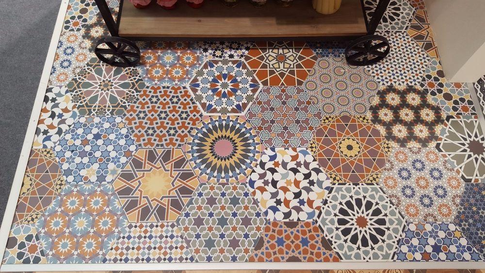 cut samples casablanca hexagon moroccan