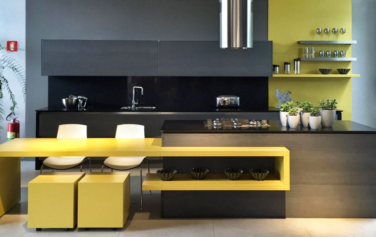 22 Yellow Accent Kitchens That Really Shine  Kitchen Designs Beauteous White And Black Kitchens Design Design Inspiration