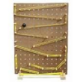 Image result for pegboard wall marble run
