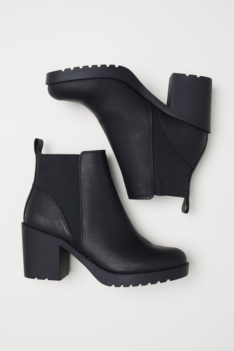 Boots, Black ankle boots, High heel boots