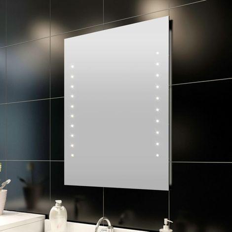 Espejo de baño de pared con LED 80 x 60 cm House