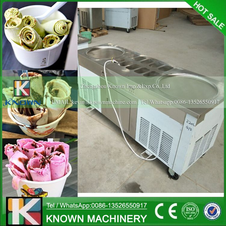 The R404A / R410A Refrigerant fried ice cream roll machine