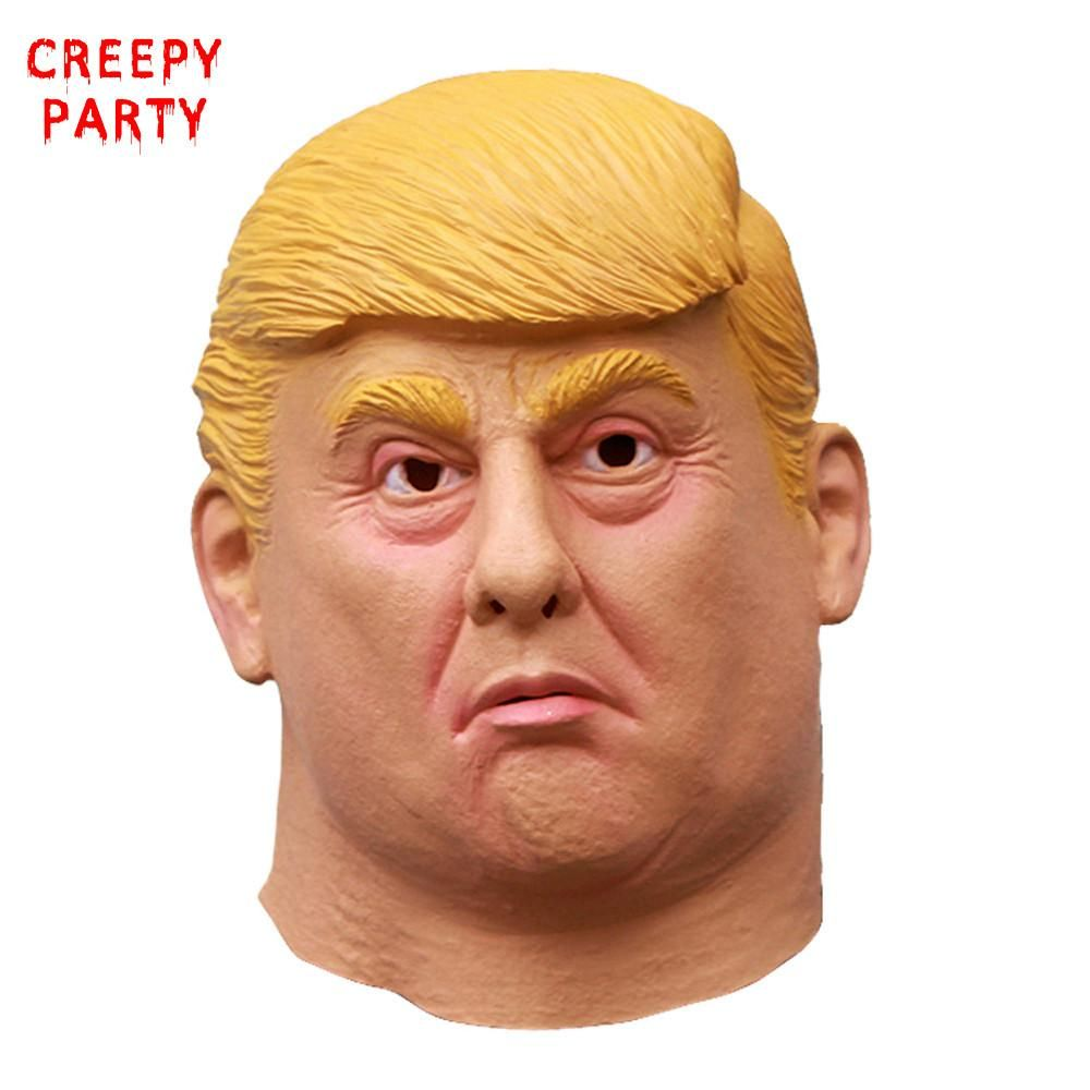 Donald Trump Halloween Latex Most Realistic Cosplay Full-head Adult Mask US ON