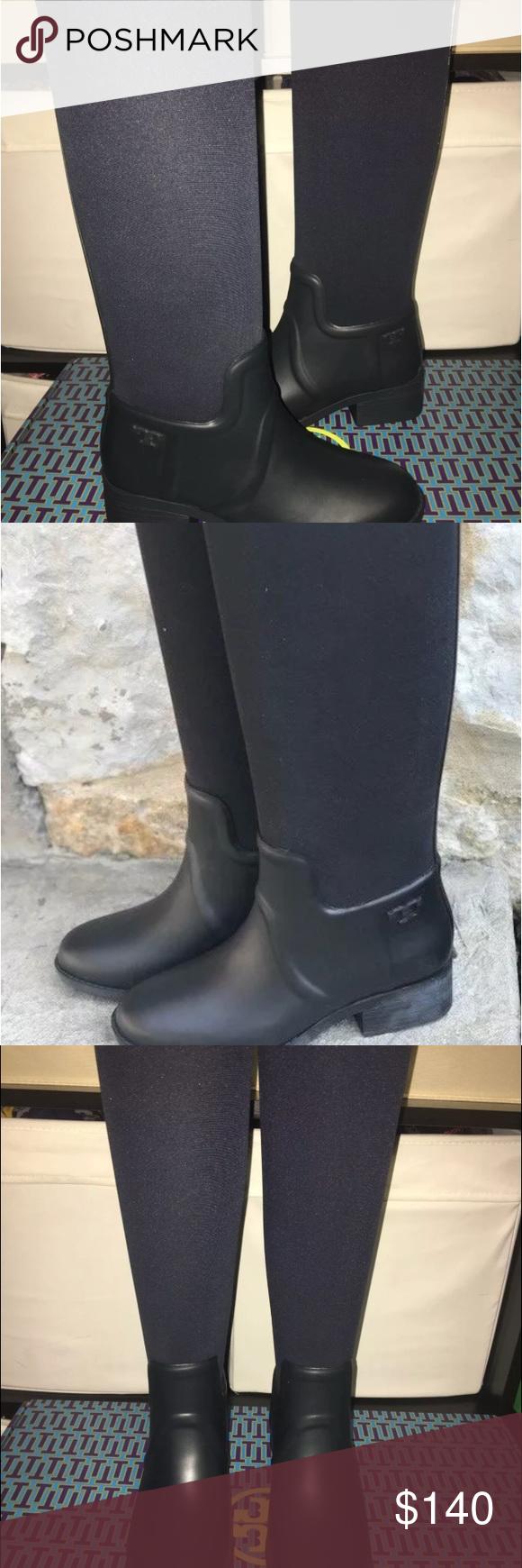 4991b647b6c0 Tory burch April rain boot Worn once navy Tory Burch Shoes Winter   Rain  Boots