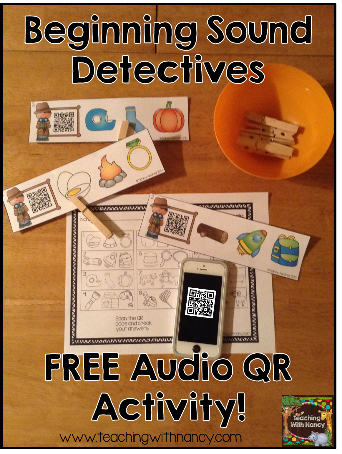 Beginning Sound Detectives Free Qr Code Activity