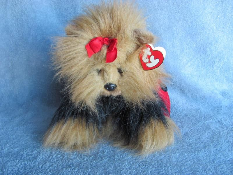 e608bae70c2 Ty Classic Plush Yappy the Yorkie with Red Purse  11.00