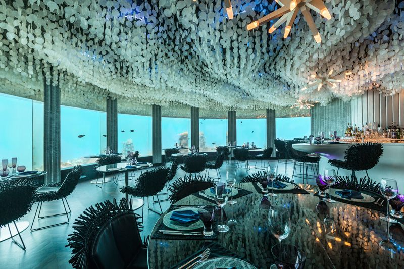 Cool Underwater Restaurant Gets Restyled By Poole Associates The Subsix In