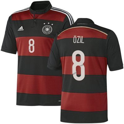 Germany Away Jersey For Mesut Ozil Adidas Brand World Cup Jerseys Jersey Fifa World Cup