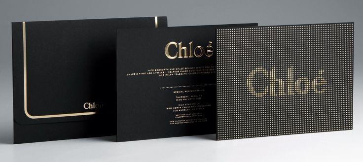 a8eb1a4f86d9c Chloe Invite Gold Foil   Show Invites   Pinterest   Fashion show ...