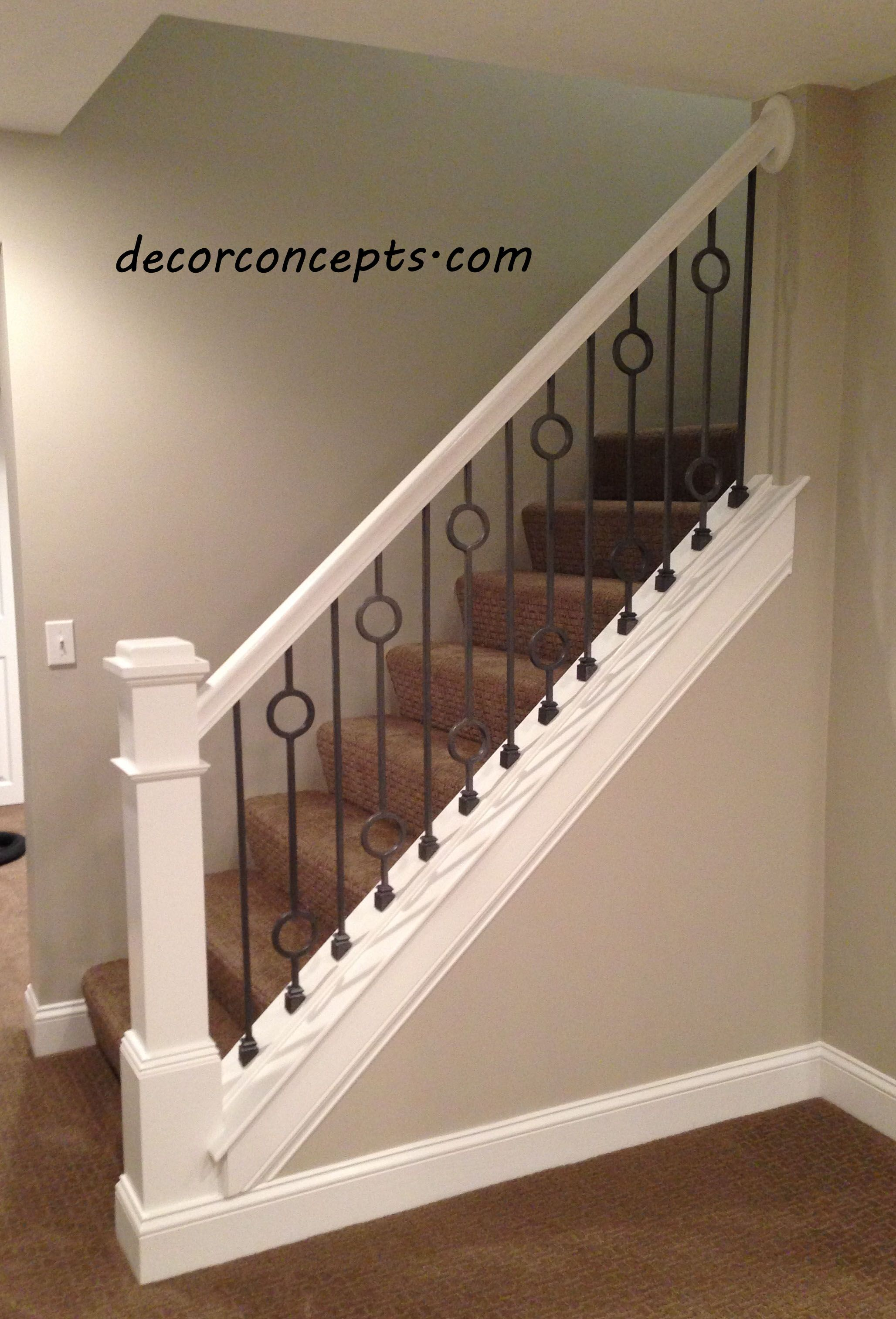 Good Designer Iron Balusters In Silver Vein Finish.