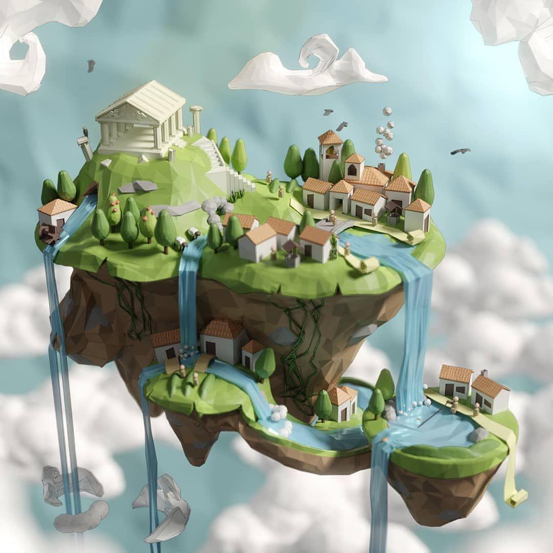 """Photo of ポリゴンカフェ💾☕にInstagram:""""美しいMythic諸島⛰🌊るには以下のようにjamief.g☕従:@thepolygoncafe📥DMくお仕事"""""""