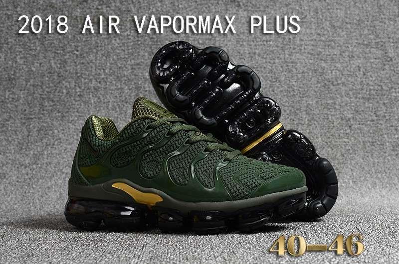 new product da490 684be Nike Air Vapormax TN Plus 2018 KPU Green Gold Men Sneakers ...
