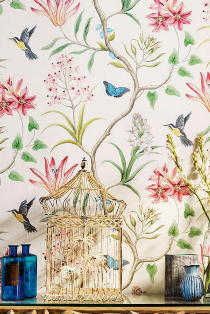 Tapete Pazia Bunt Wall Art Decor Living Room Vintage Flowers Wallpaper Wall Wallpaper