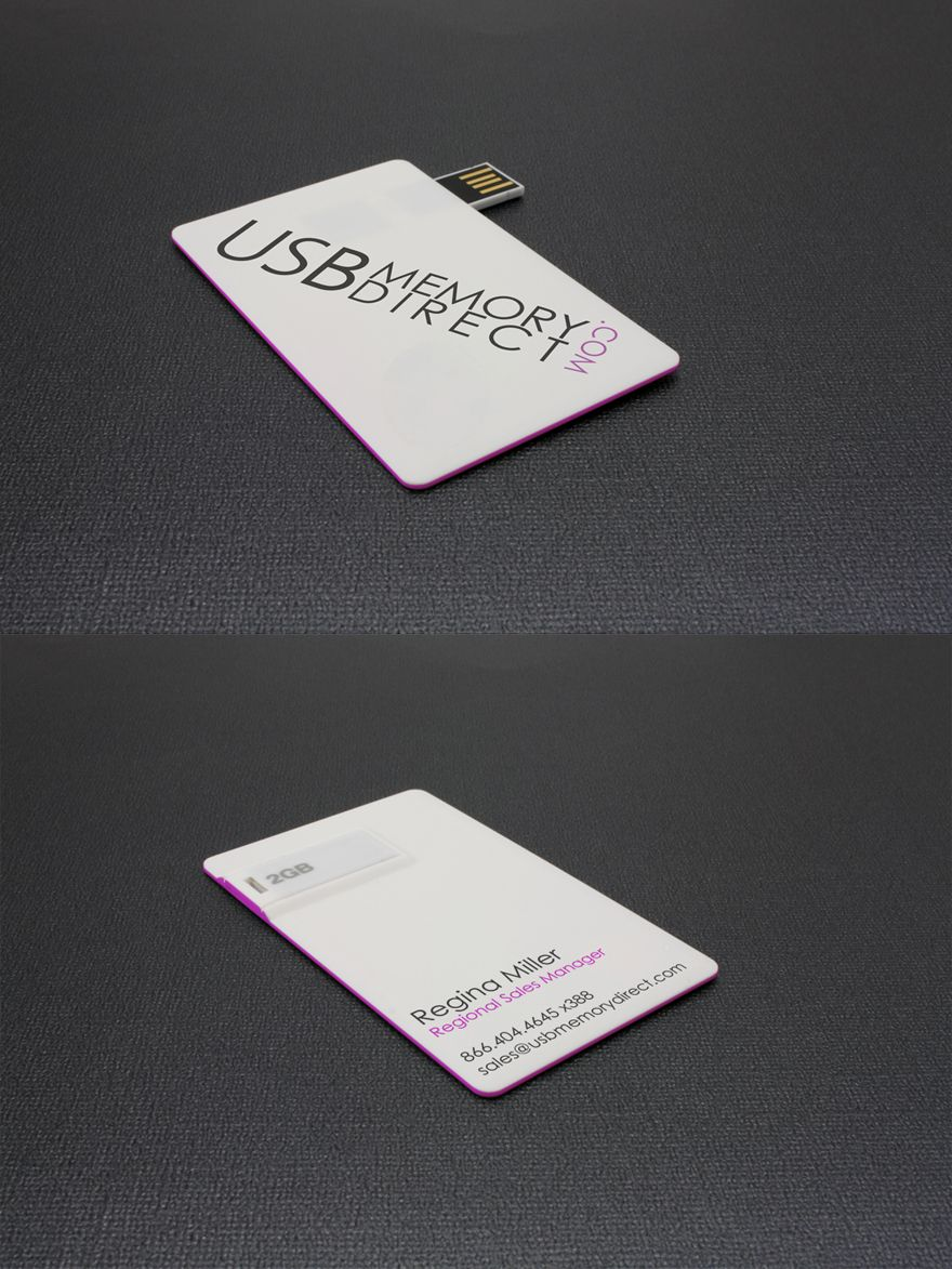 Usb business card printed on a business card style usb drive this usb business card printed on a business card style usb drive this card is not much thicker than a credit card but has a flip out usb drive reheart Choice Image