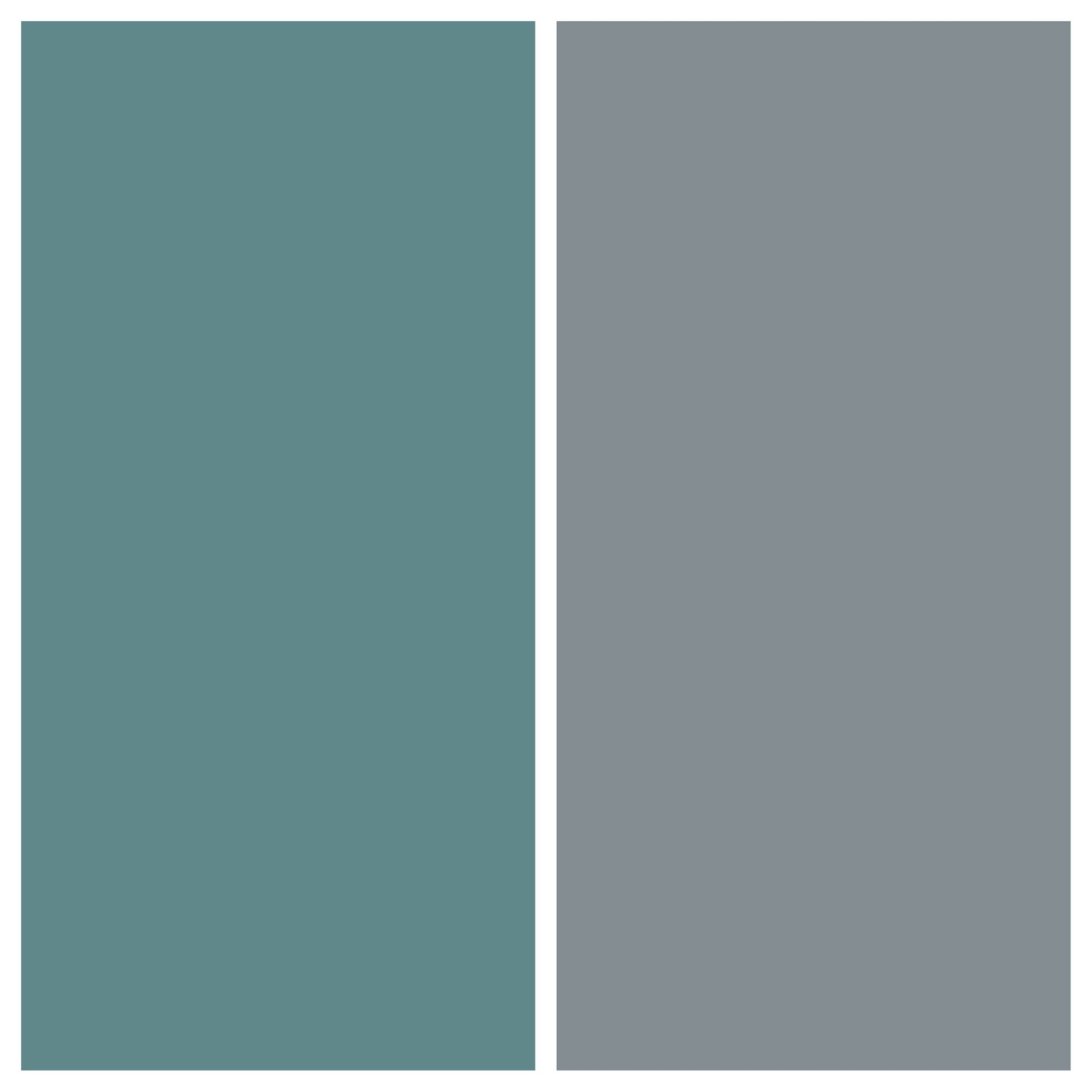 grey walls, with grey green accent wall. colors: lost atlantis
