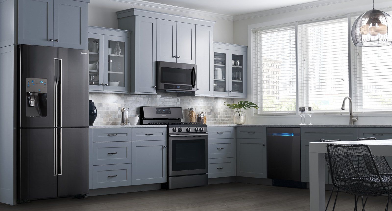 these samsung black stainless steel appliances look beautiful in my rh pinterest com