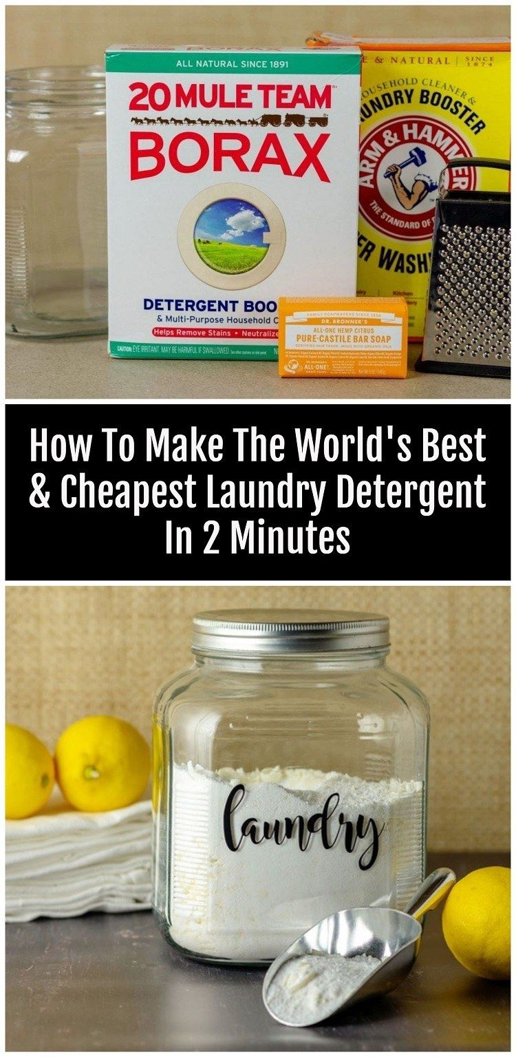 How To Make Natural Laundry Detergent In Two Minutes Natural
