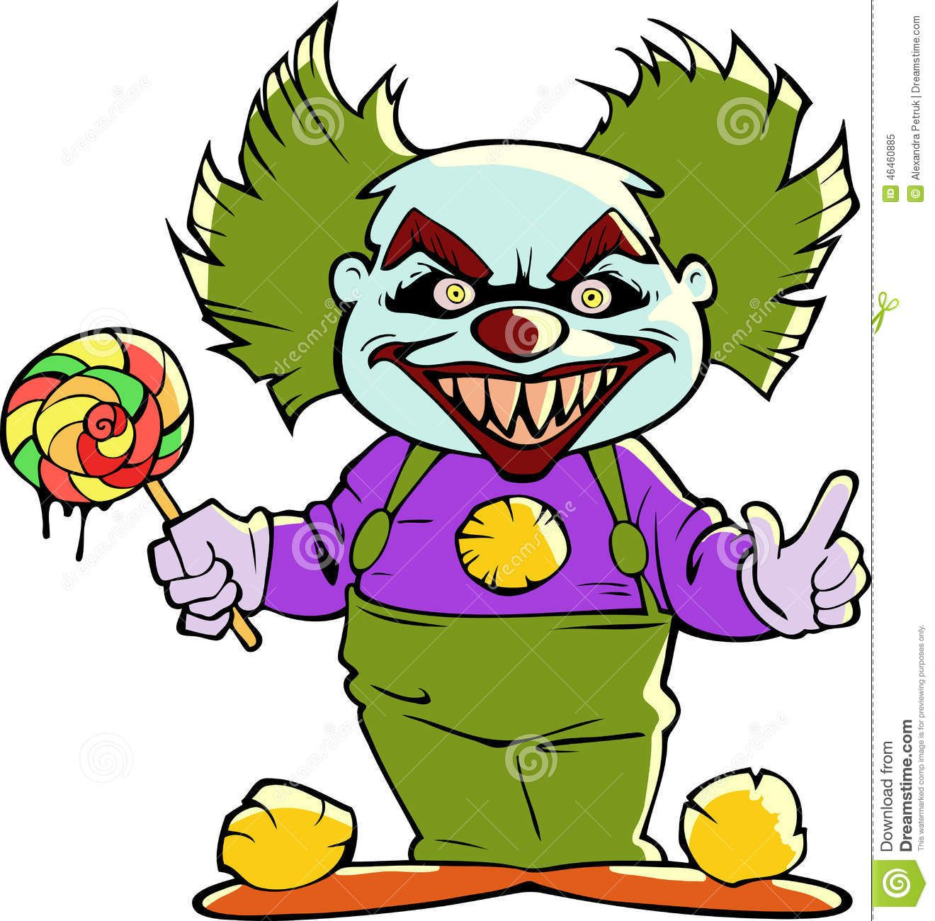 Cartoon Scary Evil Clown Halloween Illustration 46460885 Jpg 1320