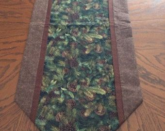 Large Christmas Table Runner by prazequilts on Etsy