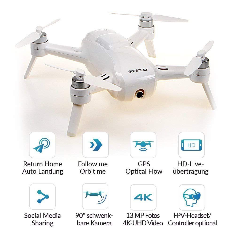 Yuneec Breeze Kompakter Quadrocopter Mit Premium Kompakter