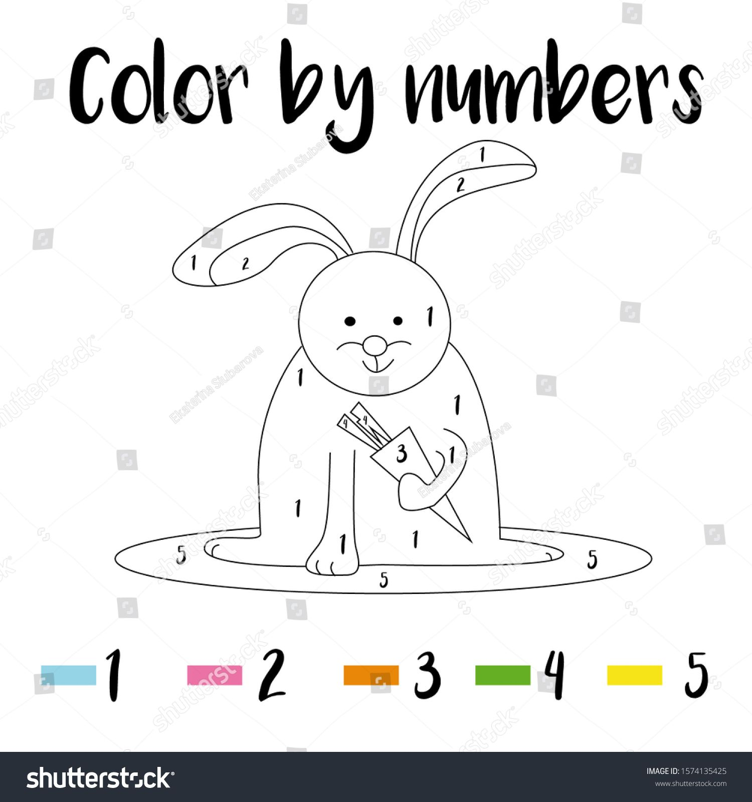 Preschool Counting Activities Drawing Of A Rabbit With A