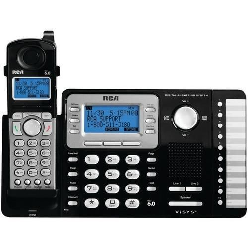 RCA 25252 2-Line Expandable Cordless Phone with Caller ID (With answering system) R810-TFD25252