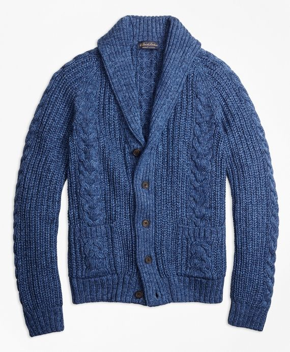 Our chunky cable knit shawl collar cardigans are a customer